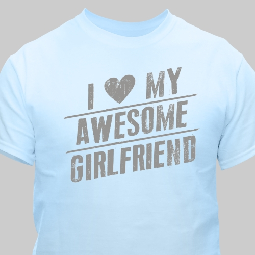 Personalized I Love My T-shirt | Personalized Valentine Gifts For Him