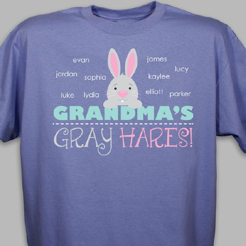 Personalized Bunny T-Shirt | Easter Shirts For Adults