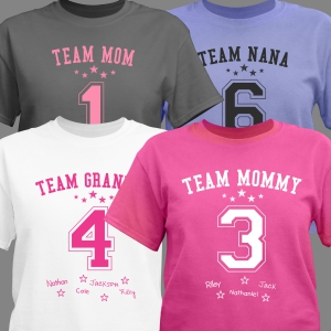 Personalized Team Mom T-Shirt