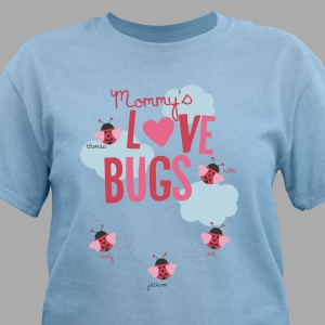 Custom Printed Love Bugs T-Shirt