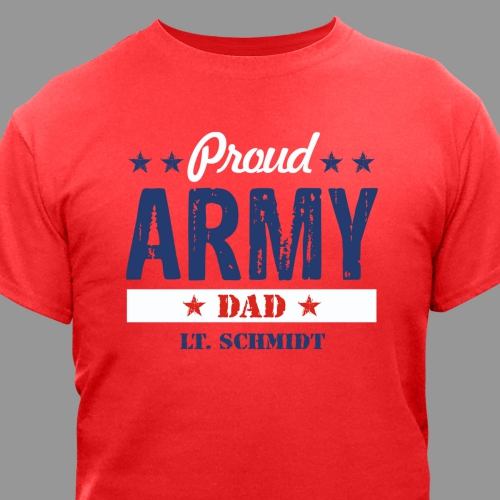 Proud Military Family T-Shirt | Personalized T-shirts