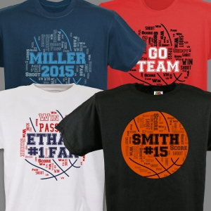 Basketball Word-Art T-Shirt