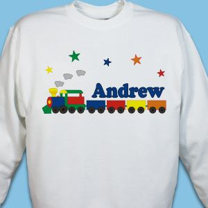 All Aboard Personalized Youth Sweatshirt