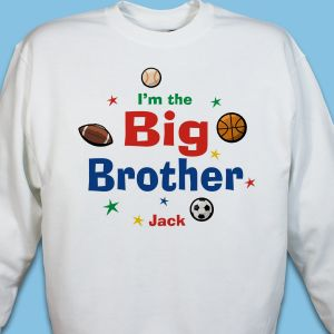 I am the Brother Sports Personalized Youth Sweatshirt