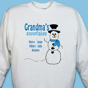Personalized Snowman Sweatshirt