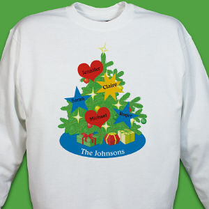 Personalized Christmas Tree Sweatshirt