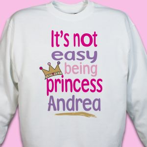 Not Easy Being A Princess Youth Sweatshirt