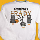 Personalized Fraidy Cats Halloween Sweatshirt