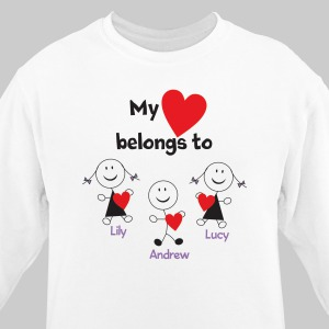 Personalized Belongs To Heart Sweatshirt