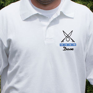 Personalized Fishing Polo Shirt
