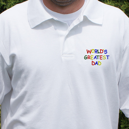 Personalized World's Greatest Polo Shirt 924265X