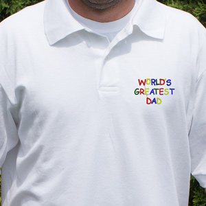 Personalized World's Greatest Polo Shirt