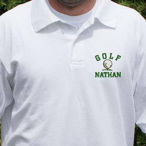 Embroidered Golf Polo Shirt | Personalized Gifts for Him