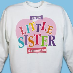 Big Sister Heart Personalized Youth Sweatshirt