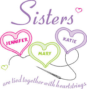 Sisters Heartstrings Personalized Apron