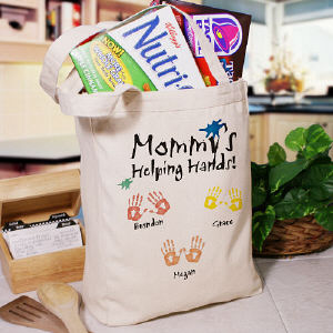 Helping Hands Personalized Canvas Tote Bag