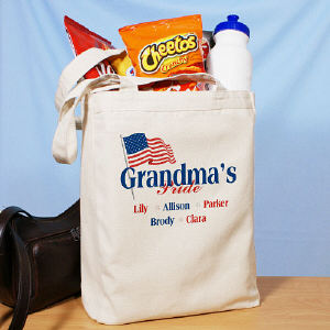 USA American Pride Personalized Canvas Tote Bag