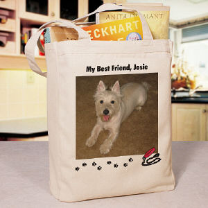 My Best Friend Dog Personalized Photo Tote Bag