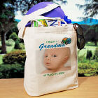 I Became A... New Baby Boy Personalized Photo Tote Bag