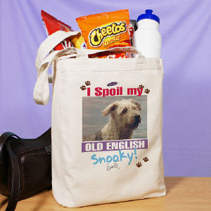 I Spoil My Dog Personalized Photo Tote Bag
