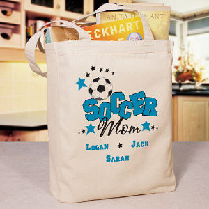 Soccer Mom Personalized Canvas Tote Bag