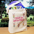 Personalized Easter Canvas Tote Bag - Eggstra Special