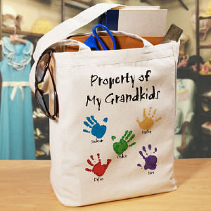 Property of Canvas Personalized Tote Bag