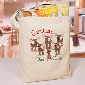 Deer Ones Personalized Canvas Tote Bag