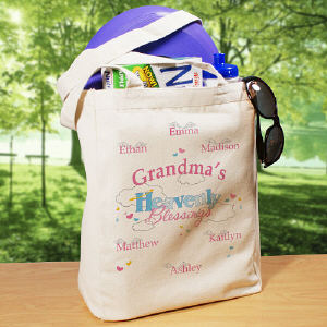 Heavenly Blessings Personalized Tote Bag