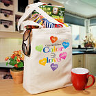 Color the World Personalized Canvas Tote Bag