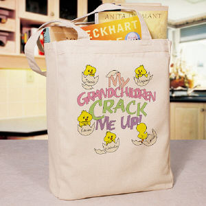 Crack Me Up Personalized Tote Bag