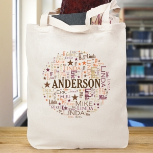 Family Circle Word-Art Tote Bag