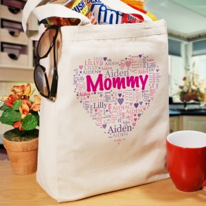 Grandma's Heart Word-Art Tote Bag