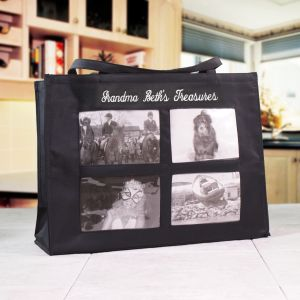 Embroidered Photo Tote Bag