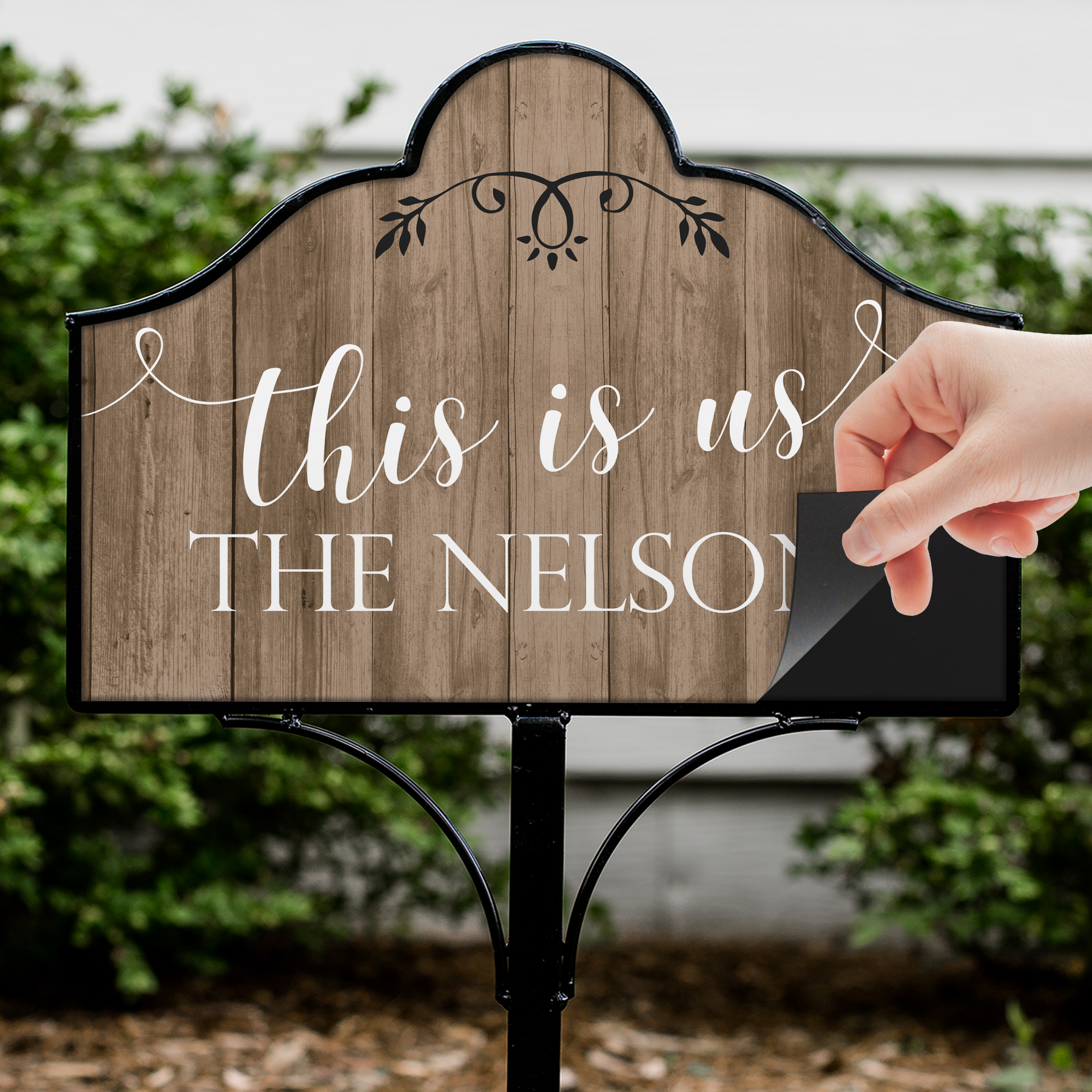 Personalized This is Us Magnetic Sign Set | Personalized Garden Signs