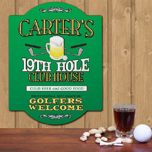 Personalized 19th Hole Golf Sign