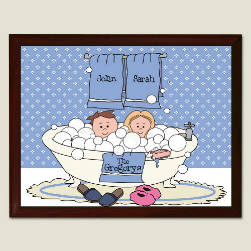 Tub Couple Wall Plaque | Personalized Couple Gifts