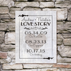 Our Love Story Wall Canvas
