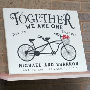 Personalized Together We Are One Wall Canvas