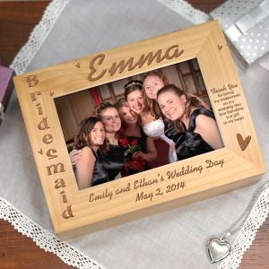 Bridesmaid Photo Keepsake Box | Personalized Keepsake Box