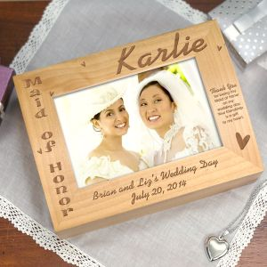 Maid of Honor Photo Keepsake Box | Personalized Keepsake Box