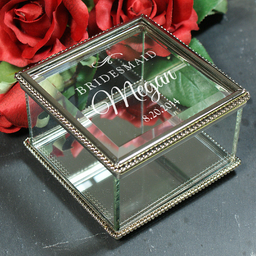 Engraved Wedding Party Jewelry Box 8576410