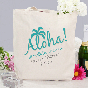 Tropical Wedding Destination Tote Bag