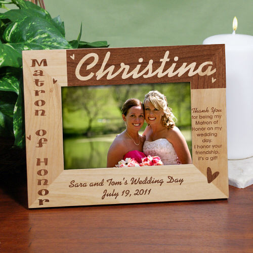 Maid of Honor Wood Picture Frame