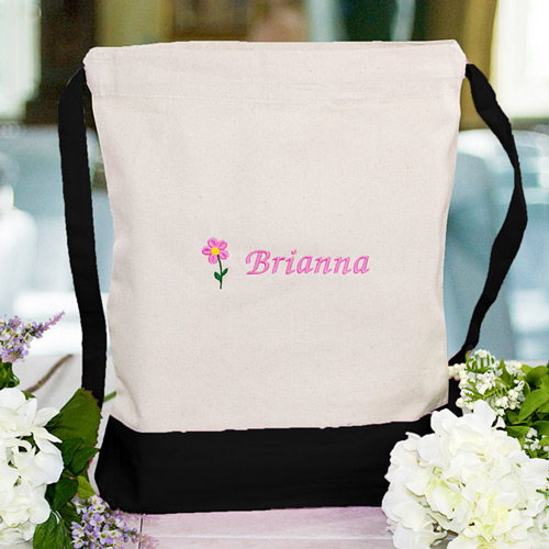 Embroidered Flower Girl Backpack CSP875892X