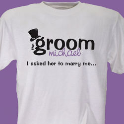 Personalized Groom T-Shirt