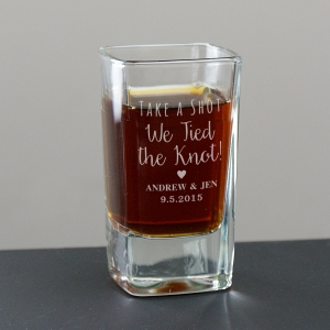 Engraved Wedding Shot Glass