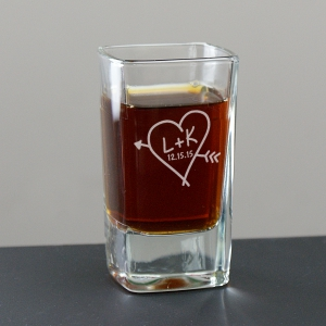 Couples Romantic Shot Glass
