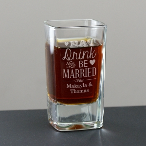 Tied the Knot Engraved Shot Glass