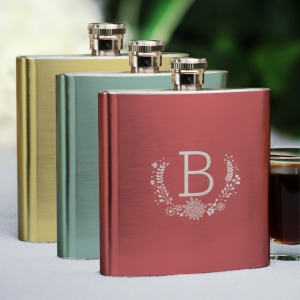Monogram Flask | Personalized Bridesmaid Gift